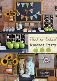s decorations back to school party s is for s mores school school