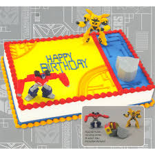 transformers cake decorations transformers optimus prime and bumblebee birthday cake decoration