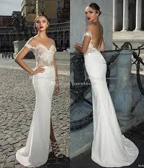 sheath wedding dress split sheath wedding dresses 2017 julie vino bridal the
