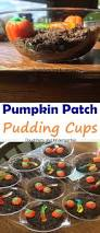 daughters and kindergarten pumpkin patch pudding cups