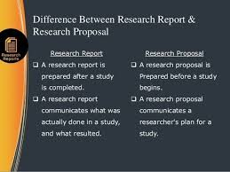 what is the difference between research proposal and research