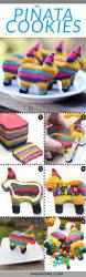 how to make adorable burro piñata cookies piñata cookie tutorial