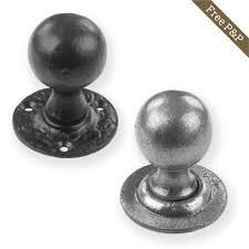 mortice glass door knobs round door knobs pewter u0026 black cast iron mortice door