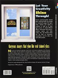 art nouveau windows stained glass coloring book dover design