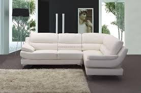 Sofa Bed White Leather Furniture Fay Dark Chocolate Leather Corner Sofa With Black