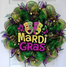 mardi gras deco mesh mardi gras wreath ebay