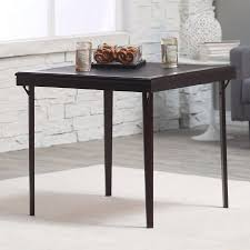 wooden folding table walmart cosco 32 in square premium wood folding card table walmart com