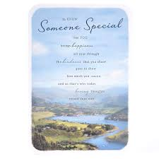 birthday card someone special traditional landscape card factory