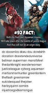 Aquaman Meme - facts nation 92 fact both the flash and aquaman movies will take