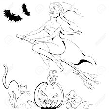 halloween symbol black and white silhouettes pumpkin cat bat