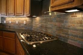 Red Kitchen Tile Backsplash by Interior Simple Brick Red Kitchen Cabinets On Kitchen Design