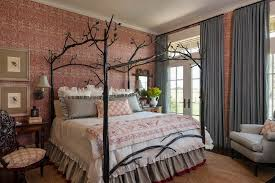 Modern Canopy Bed Contemporary Canopy Bed Kids With Retro Modern Wall Decals