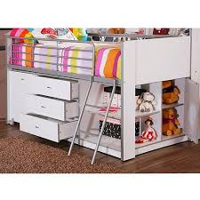 savannah storage loft bed with desk white walmart com