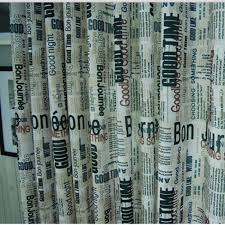 Modern Pattern Curtains Newspaper Pattern Novelty Cotton And Linen Modern Curtains Buy