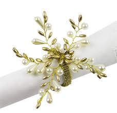 how to set a table with napkin rings elegant pearl collection wedding special event table napkin rings