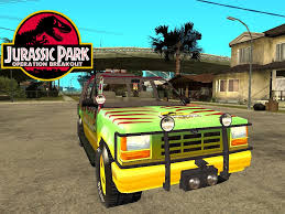 jurassic park tour car ford explorer update image jurassic park operation breakout mod