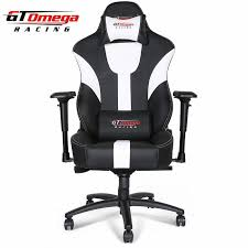 office chair in white gt omega master xl racing office chair black and white leather