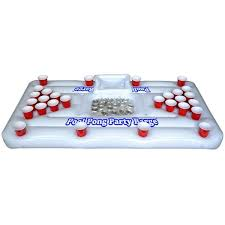 Barge Draft Tables Gopong Inflatable Party Barge Beer Pong Table With Cooler 6 Ft