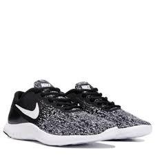 Nike Womens nike flex contact running shoe black white