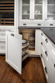 oak corner kitchen wall cabinet swing out kitchen cabinets transitional kitchen gilday
