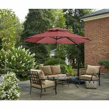 11 ft solar offset beige patio umbrella probably patio 11 Ft Offset Patio Umbrella
