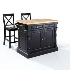 crosley butcher block top kitchen island butcher block top kitchen island in black finish crosley furniture
