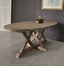 Rustic Oval Dining Table Oval Dining Tables Ebay