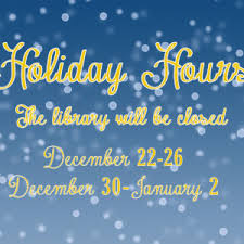 library closing for and new year holidays tll temple