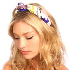 silk headband royal floral silk knot headband
