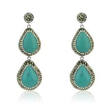 turquoise drop earrings turquoise drop earrings elements luxury gemstone jewellery