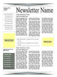 7 best photos of one page newsletter design great newsletter