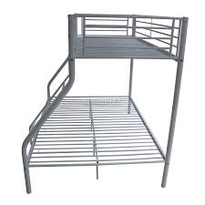 Steel Frame Bunk Beds by Foxhunter New White Metal Triple Children Sleeper Bunk Bed Frame