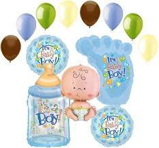 welcome home baby shower 13 pc lot its a boy balloon bouquet decoration baby welcome home
