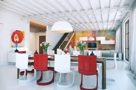 red dining room painted red chandelier editonline us