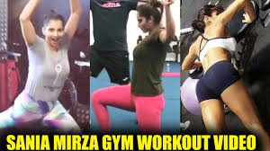 sania mirza gym workout video leaked celebrity unseen videos