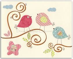 Bird Decor For Nursery Baby Room Decor Nursery Baby Owl Bird Pastel Series