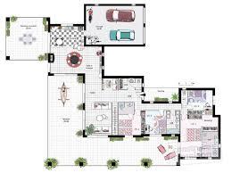 plan de maison plain pied 4 chambres avec garage luxe plan maison plain pied 4 chambres avec suite parentale idées