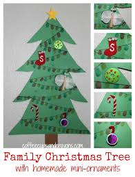 christmas craft for kids family tree with mini ornaments coffee