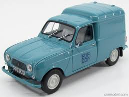 renault cars 1965 norev 185197 scale 1 18 renault 4 van f4 edf gdf 1965 light blue