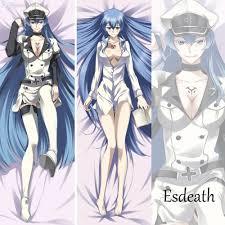 wholesale anime akame ga kill esdeath dakimakura pillow case