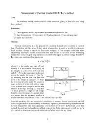 exp2 lees method pdf thermal conduction thermal conductivity