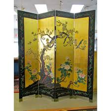 Gold Room Divider by Chinese Gold Leaf Room Divider Chairish