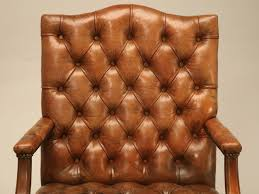 Vintage Leather Club Chair Pair Of English Button Tufted Leather Vintage Chesterfield