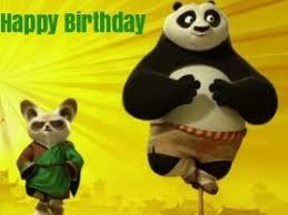 free kung fu panda birthday greeting cards