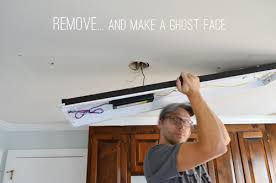 Removing Light Fixture How To Replace Fluorescent Lighting With A Pendant Fixture