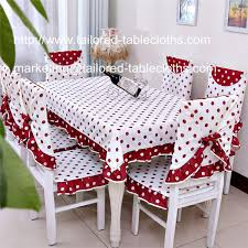 Dining Table Chair Cover Cotton Dining Tablecloth And Chair Cover And Back Cover Set For 6