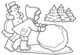 snowball kids coloring pages winter winter coloring pages of