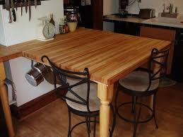 butcher block farm dining table u0026 4 chairs u0026 bench u2014 unique