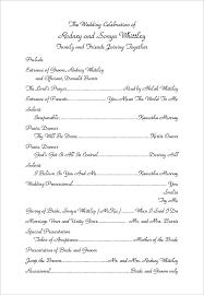 wedding program layout wedding program layout exles hnc