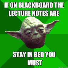Stay In Bed Meme - if on blackboard the lecture notes are stay in bed you must